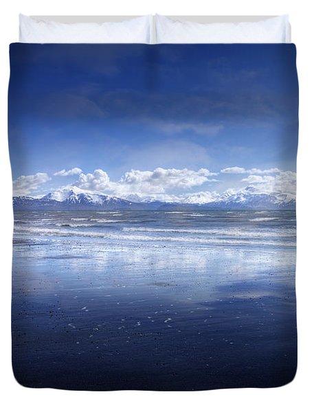 Empty Beach Duvet Cover by Michele Cornelius