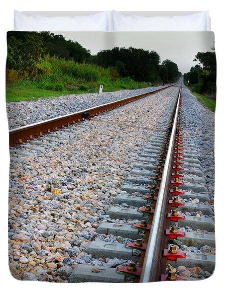 Empty Railway Duvet Cover by Carlos Caetano