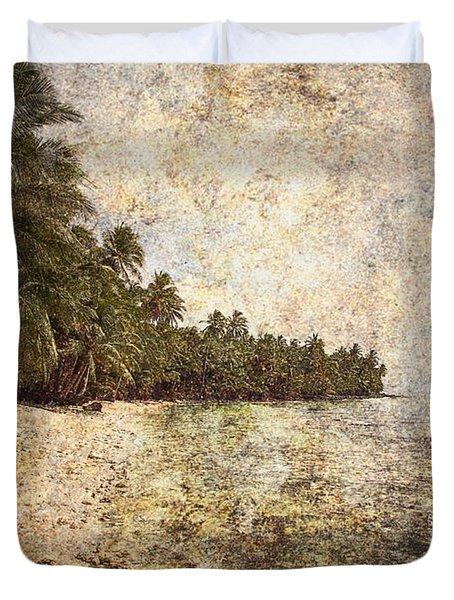 Empty Tropical Beach 2 Duvet Cover by Skip Nall