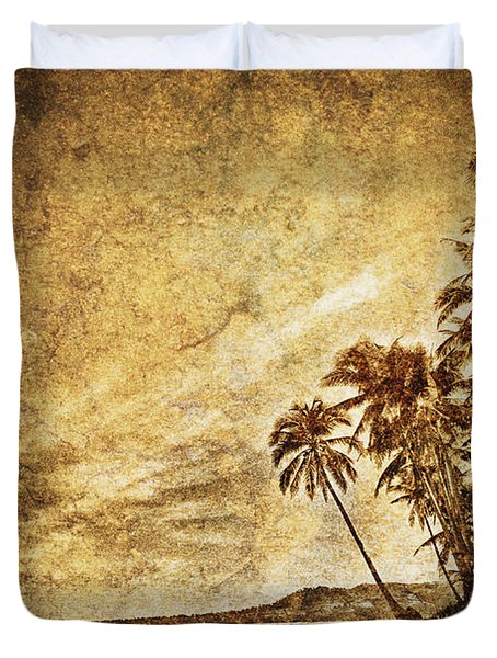 Empty Tropical Beach 3 Duvet Cover by Skip Nall