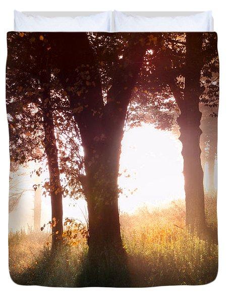 Enchanted Meadow Duvet Cover by Debra and Dave Vanderlaan