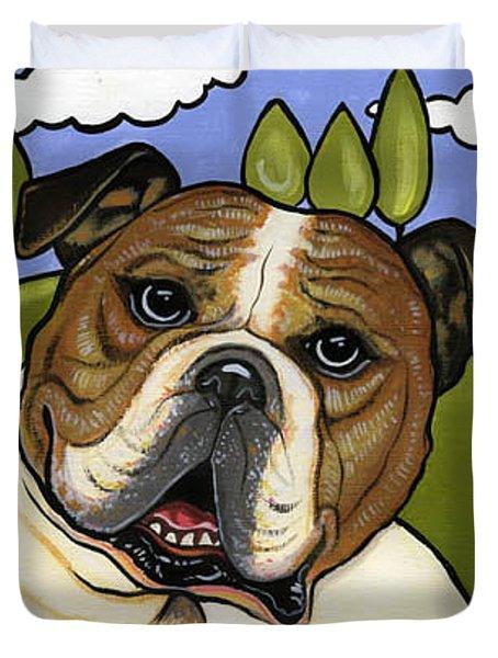 English Bull Dog Duvet Cover by Leanne Wilkes