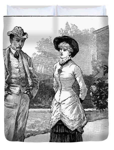 English Couple, 1883 Duvet Cover