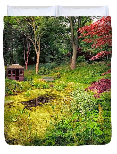 English Garden  Duvet Cover by Adrian Evans