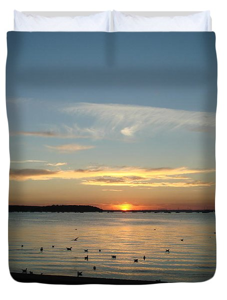 Duvet Cover featuring the photograph Enjoy by Katy Mei