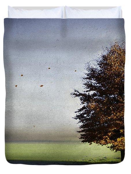 Enjoying The Autumn Sun Duvet Cover by Hannes Cmarits