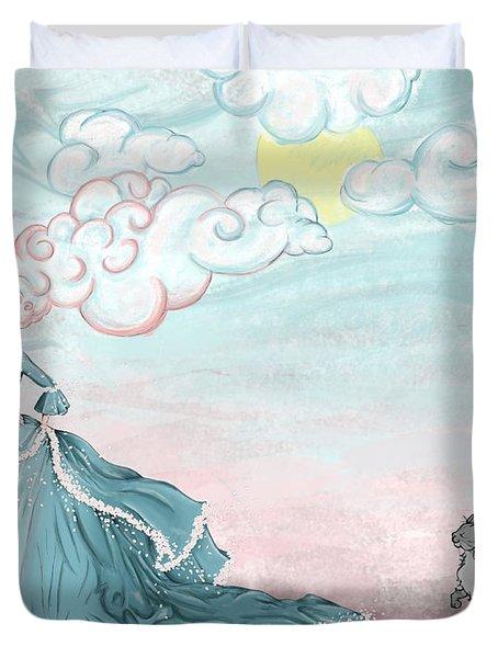 Enter Lady Spring Duvet Cover