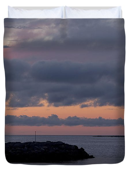 Entrance To Rocky Harbour Duvet Cover
