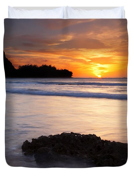 Enveloped By The Tides Duvet Cover by Mike  Dawson