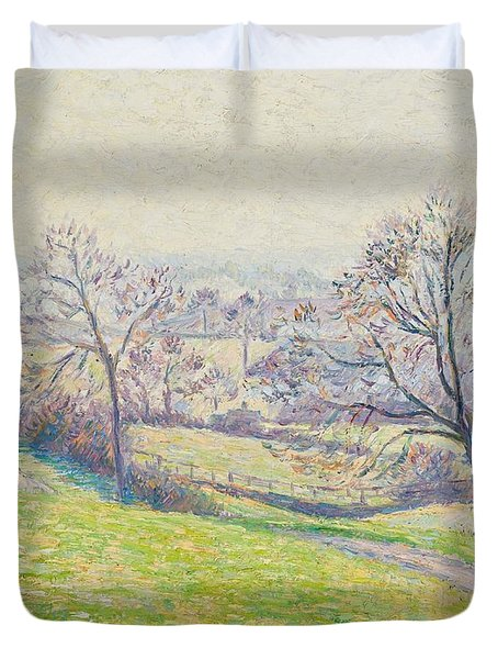 Epping Landscape Duvet Cover by Camille Pissarro