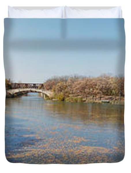 Duvet Cover featuring the photograph Erie Canal Panorama by William Norton