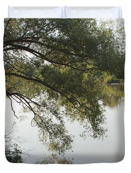 Duvet Cover featuring the photograph Erie Canal Turning Basin by William Norton