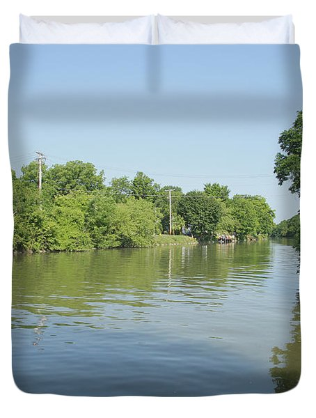 Duvet Cover featuring the photograph Erie Canal by William Norton
