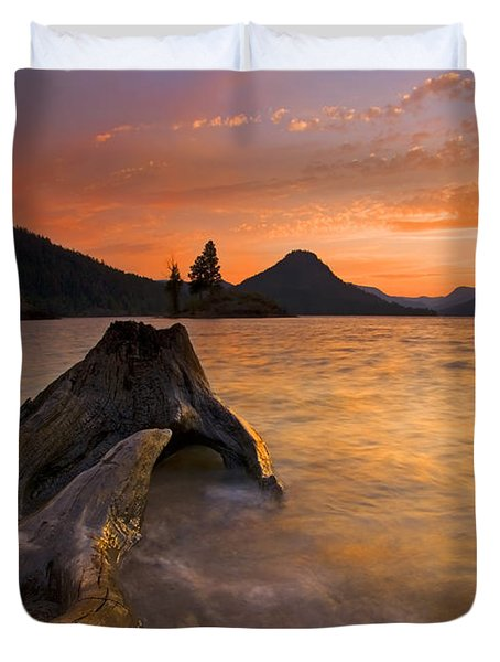 Eroded Away Duvet Cover by Mike  Dawson