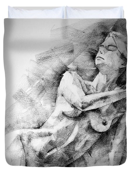 Erotic Sketchbook Page 2 Duvet Cover