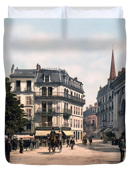 Etablissement Thermal - Aix France Duvet Cover by International  Images