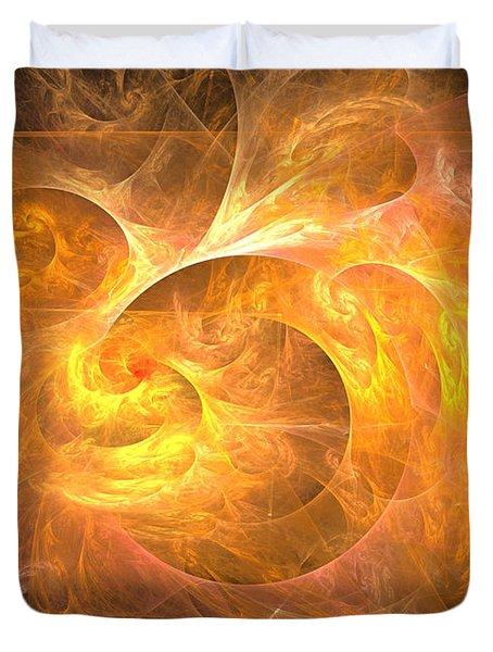 Eternal Flame - Abstract Art Duvet Cover