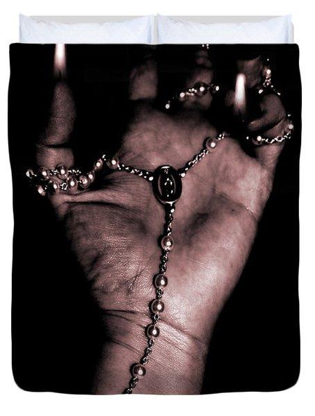 Duvet Cover featuring the photograph Eternal Struggle by Lauren Radke