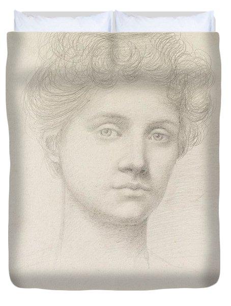 Ethel Pickering Duvet Cover by Evelyn De Morgan
