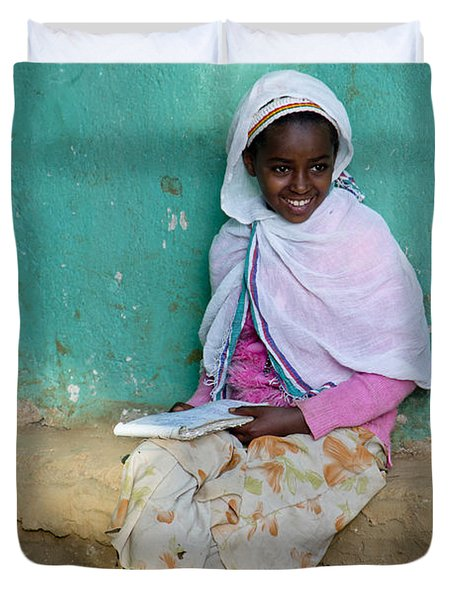 Ethiopia-south School Girl Duvet Cover