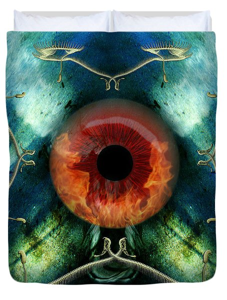 Eve S Eye Duvet Cover by Rosa Cobos