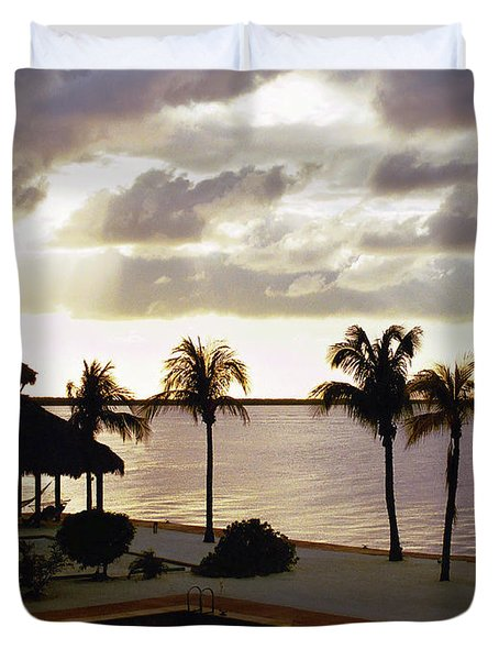 Evening In The Keys - Key Largo Duvet Cover