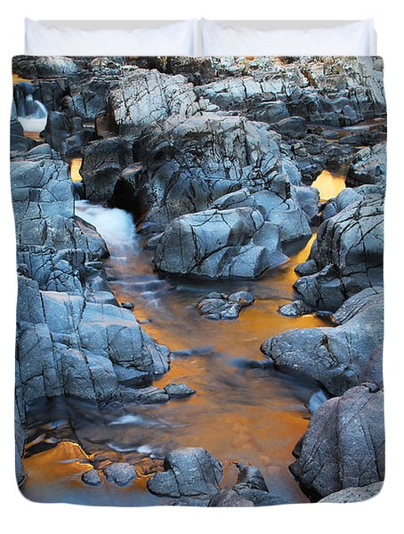 Evening Light On The Black River At Johnsons Shut Ins State Park IIi Duvet Cover by Greg Matchick