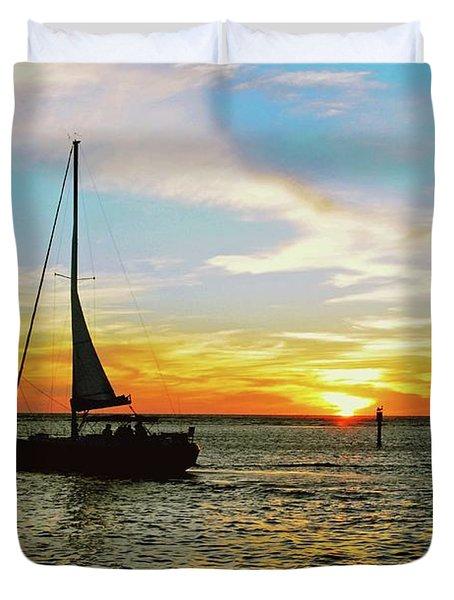 Evening Sailing Duvet Cover
