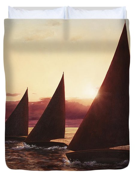 Evening Sails Duvet Cover