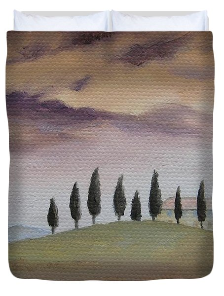 Evening Tuscany Duvet Cover