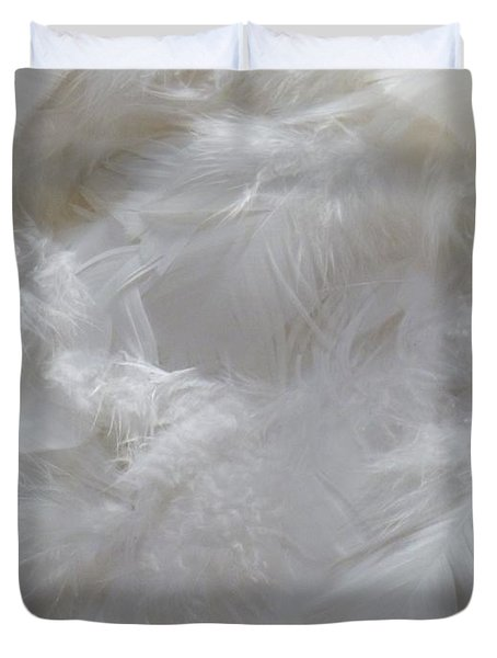Duvet Cover featuring the painting Evidence Of Angels by Newel Hunter
