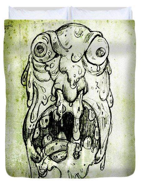 Evil Snot Monster Duvet Cover