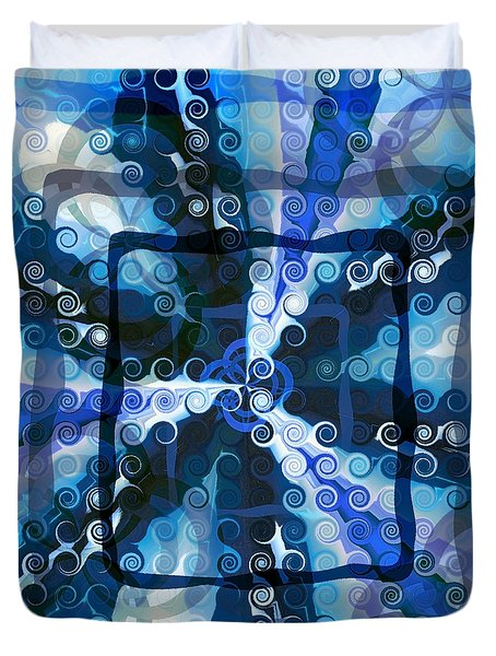 Evolve 5 Duvet Cover by Angelina Vick