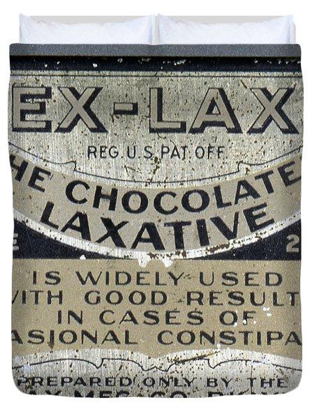 Ex-lax Container Duvet Cover