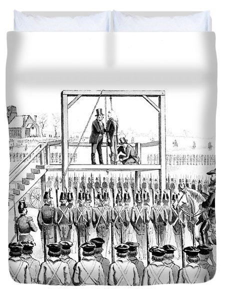 Execution Of John Brown, American Duvet Cover by Photo Researchers