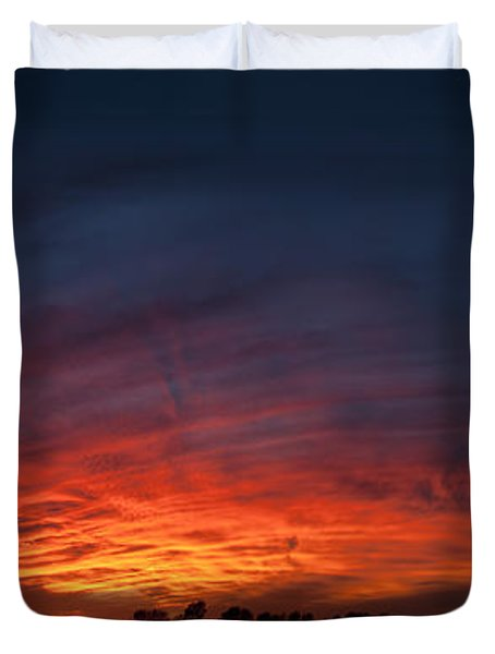 Expansive Sunset Duvet Cover