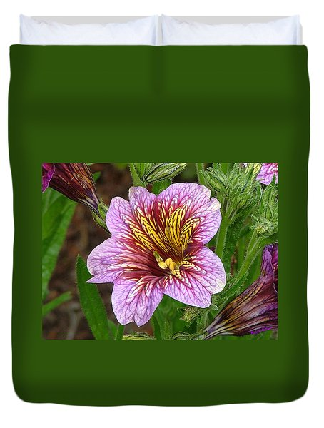 Exploding Beauty Duvet Cover by Wendy McKennon