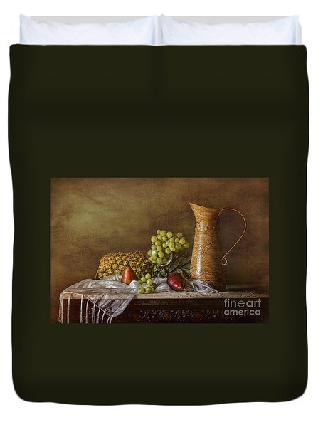 Exploring Still Life Duvet Cover by Sari Sauls