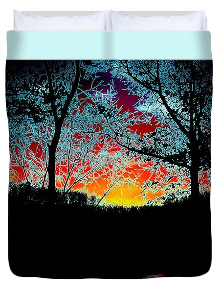 Electric Sunset Duvet Cover