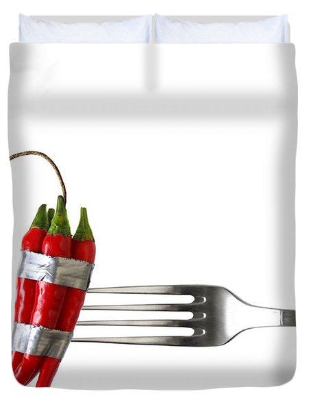 Explosive Food Duvet Cover by Carlos Caetano