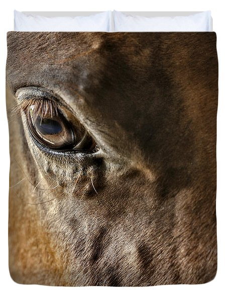 Eye Of The Horse Duvet Cover by Susan Candelario