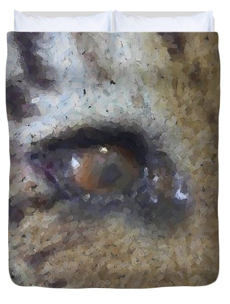 Duvet Cover featuring the photograph Eye Of The Tiger by Donna G Smith