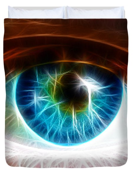 Eye Duvet Cover by Paul Van Scott