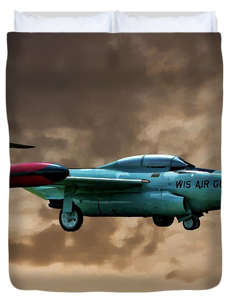 F-89 Scorpion Duvet Cover by Tommy Anderson