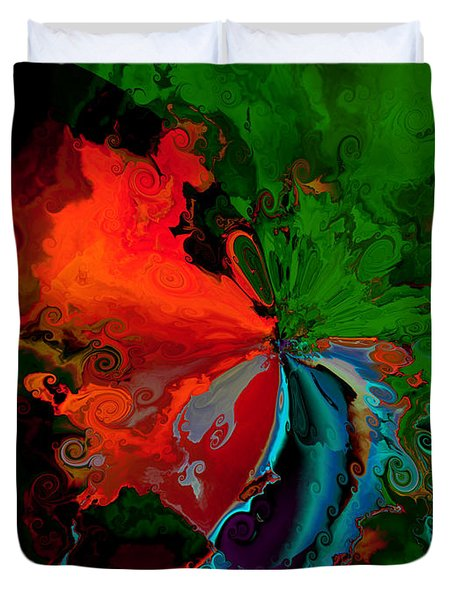 Faa Abstract 3 Invasion Of The Reds Duvet Cover