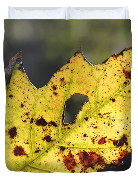 Face Of A Leaf Duvet Cover