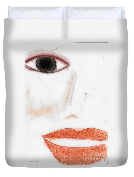 Face Duvet Cover by Vicki Ferrari