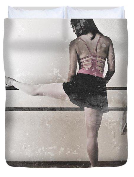 Faded Ballerina Duvet Cover by Scott Sawyer