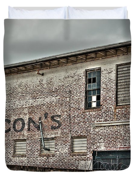 Faded Facade Duvet Cover