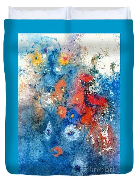 Faerie Flowers Duvet Cover